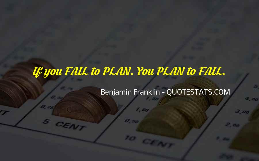 If You Fail To Plan Quotes #183687