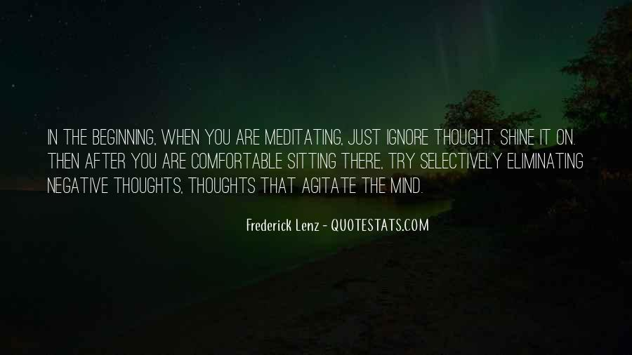 Ignore Negative Thoughts Quotes #428337