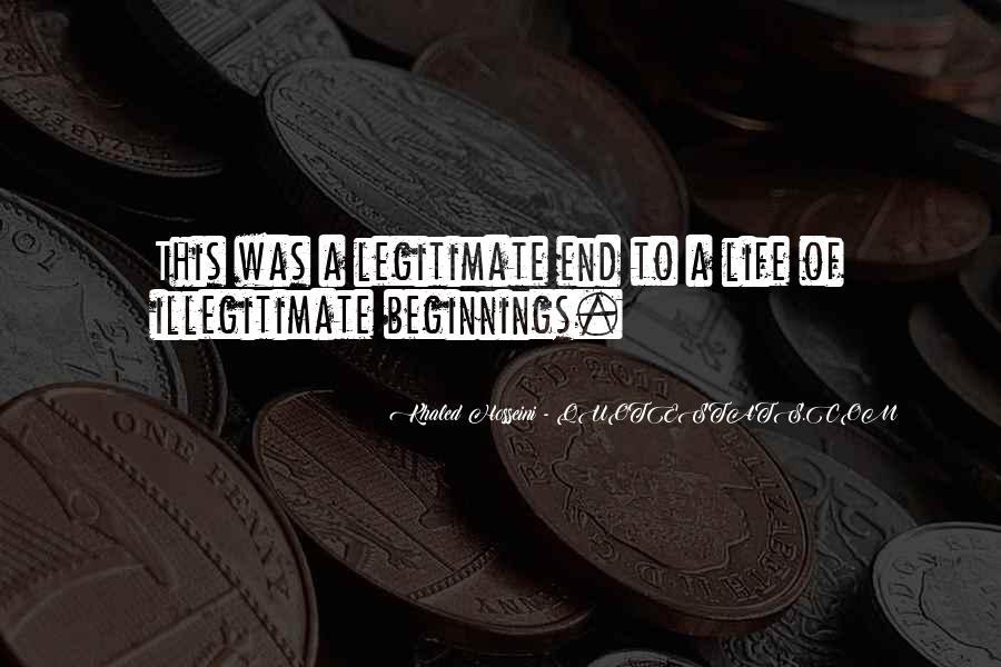 Illegitimate Quotes #350230