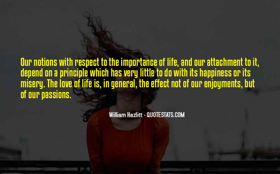 Importance Of Your Love Quotes #318627