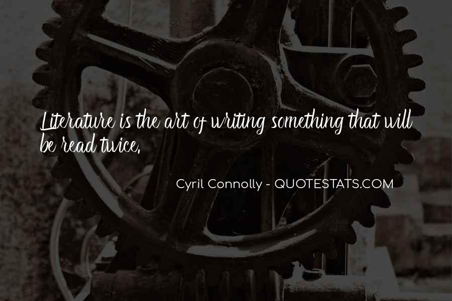 Quotes About The Art Of Literature #163664