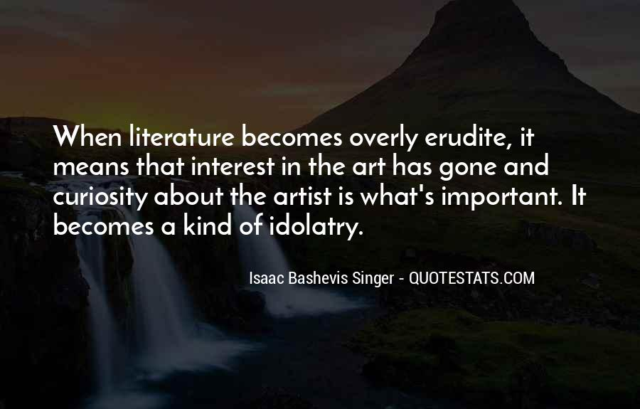 Quotes About The Art Of Literature #169614