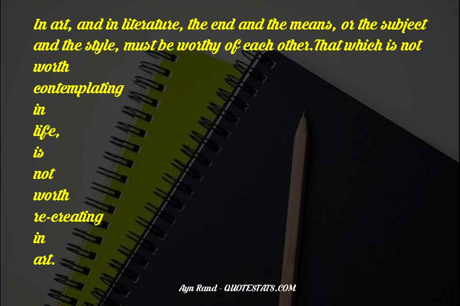 Quotes About The Art Of Literature #671649