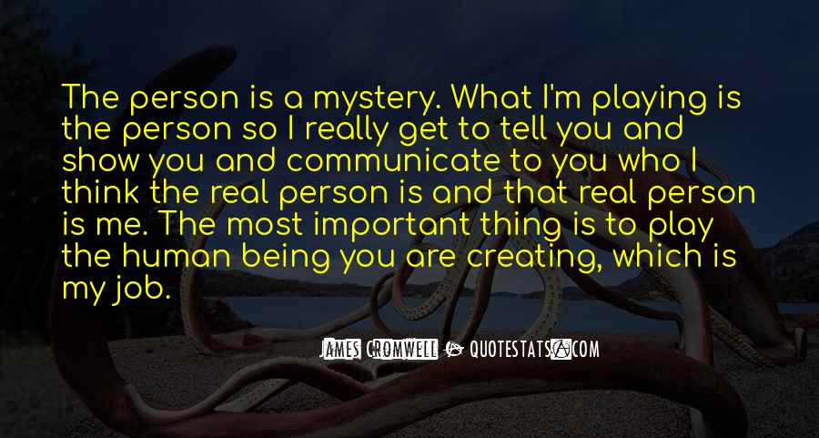 Important Person To Me Quotes #1031553