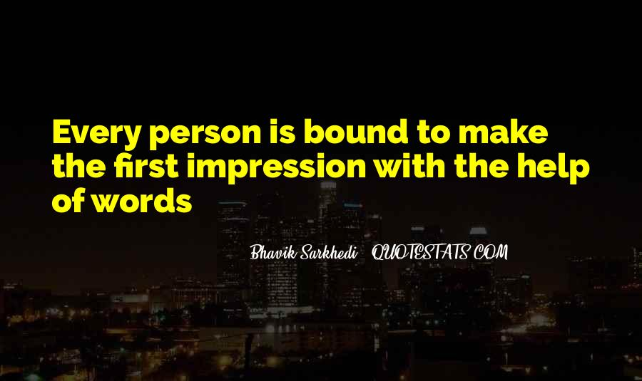 Impression Quotes #10277