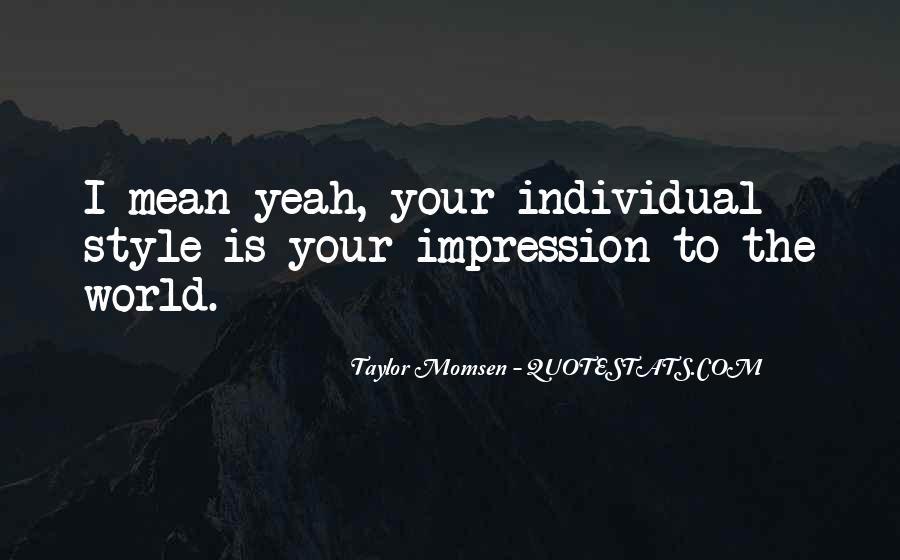 Impression Quotes #49428