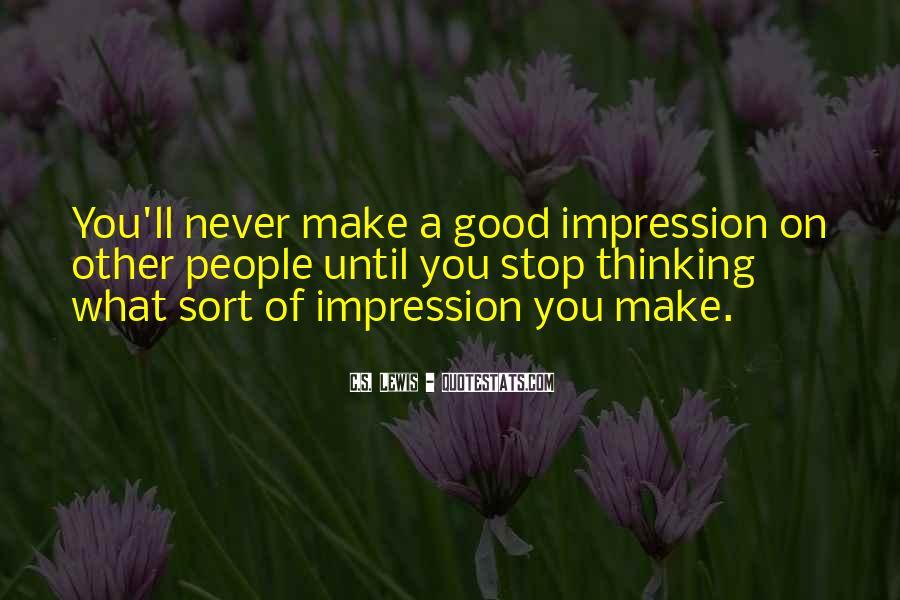 Impression Quotes #76281