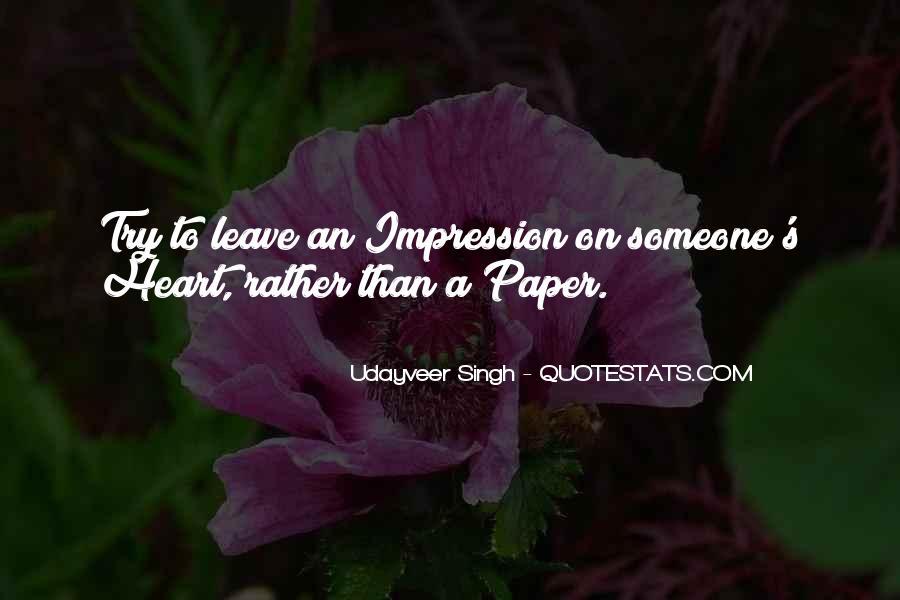 Impression Quotes #98680
