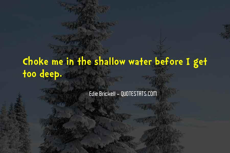 In Deep Water Quotes #1108028