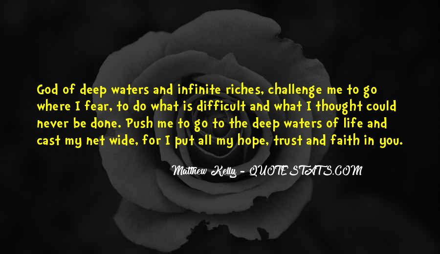 In Deep Water Quotes #356970