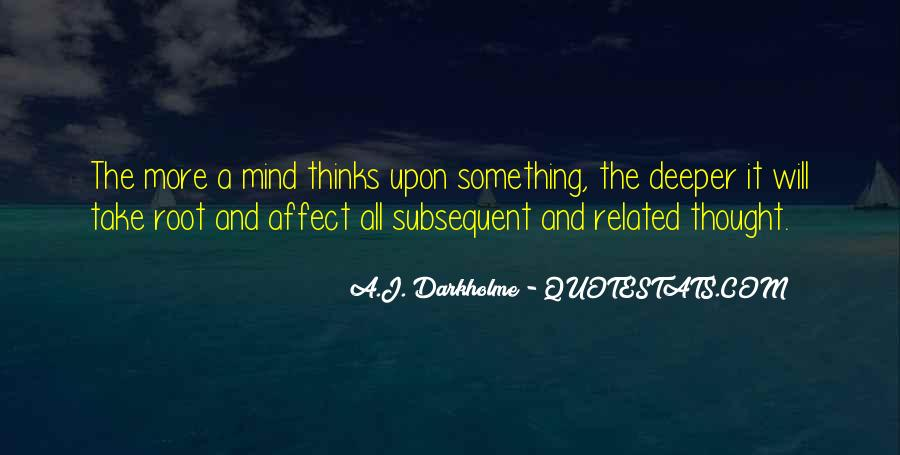 In Depth Thinking Quotes #1737137