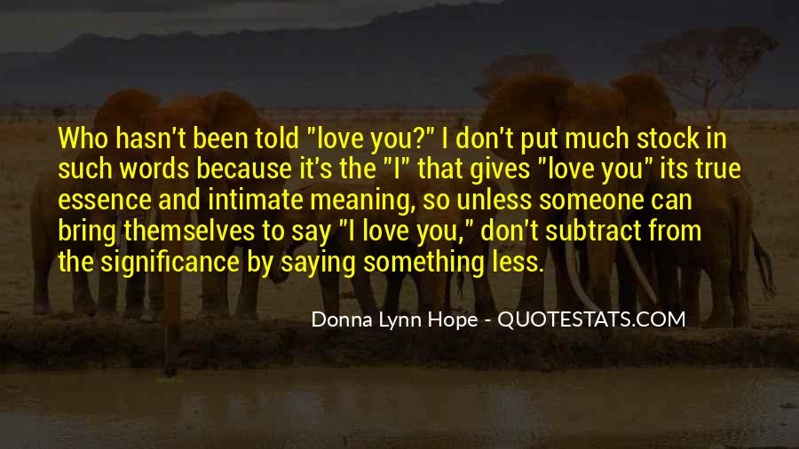 In Love Meaningful Quotes #647678