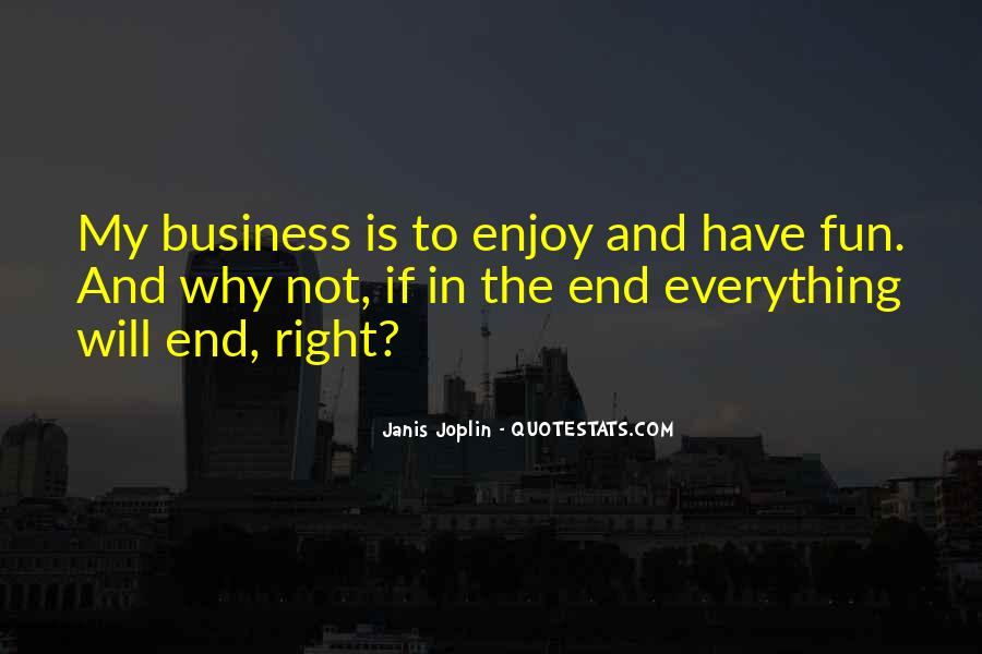 In My Business Quotes #122750