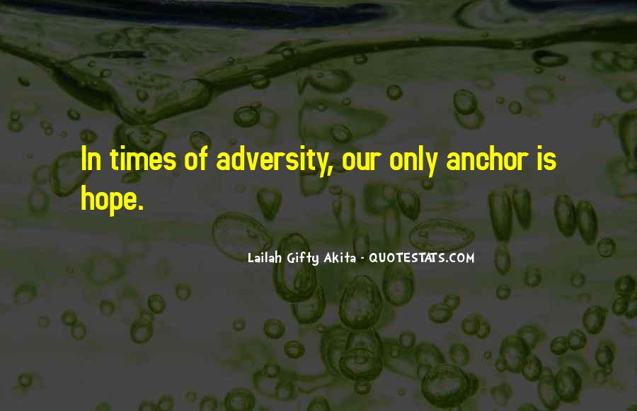 In Times Of Adversity Quotes #992795
