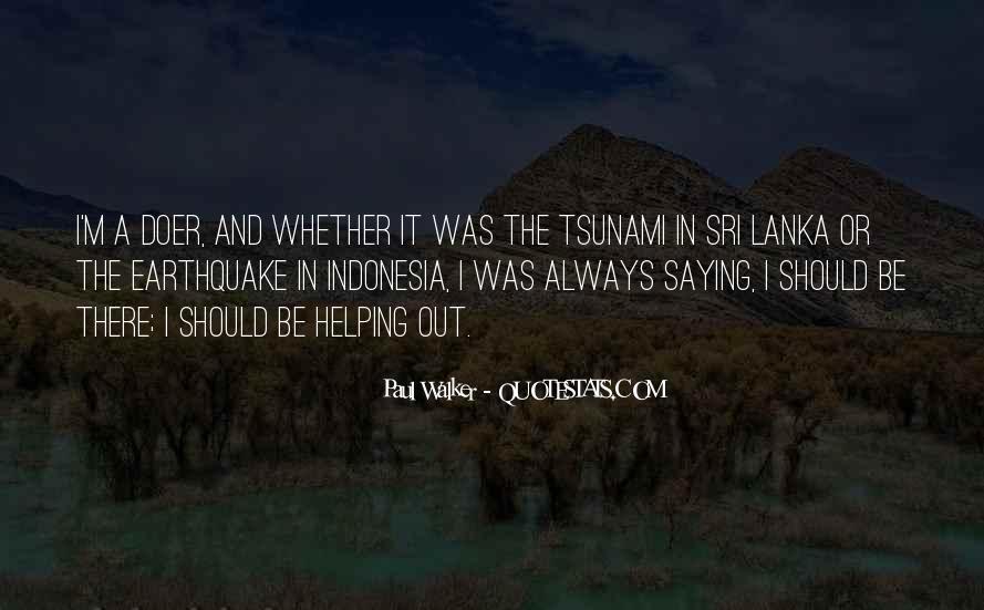 Indonesia Tsunami Quotes #1090060