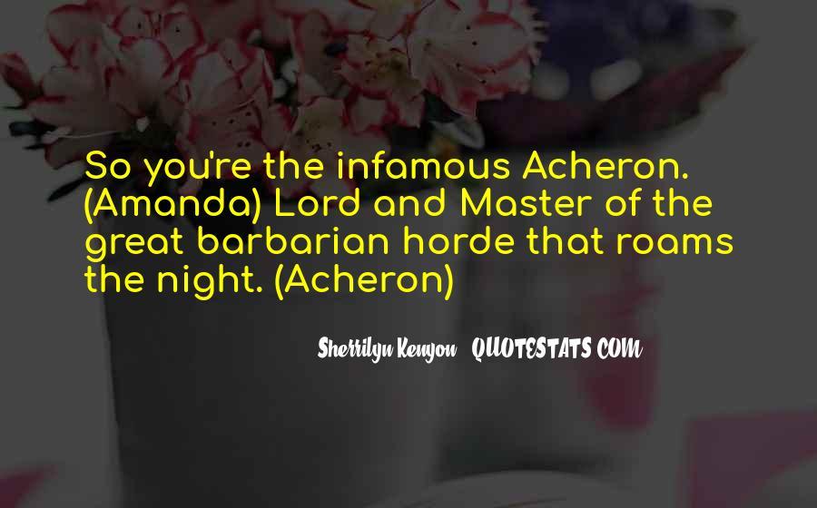 Infamous Sherrilyn Kenyon Quotes #1184185