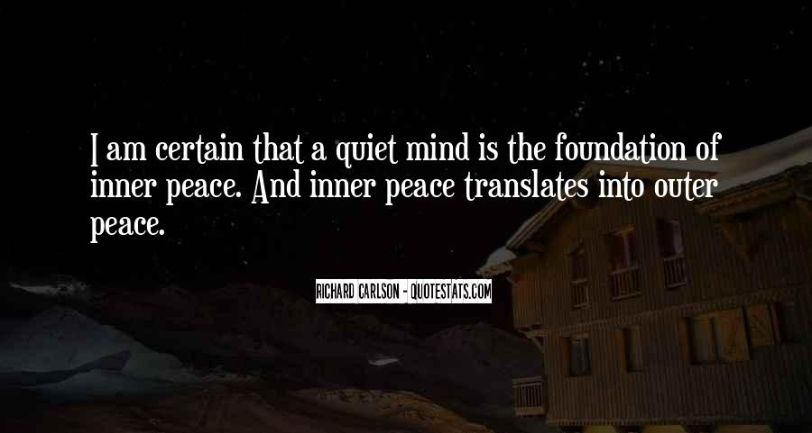 Inner Peace Of Mind Quotes #1144792