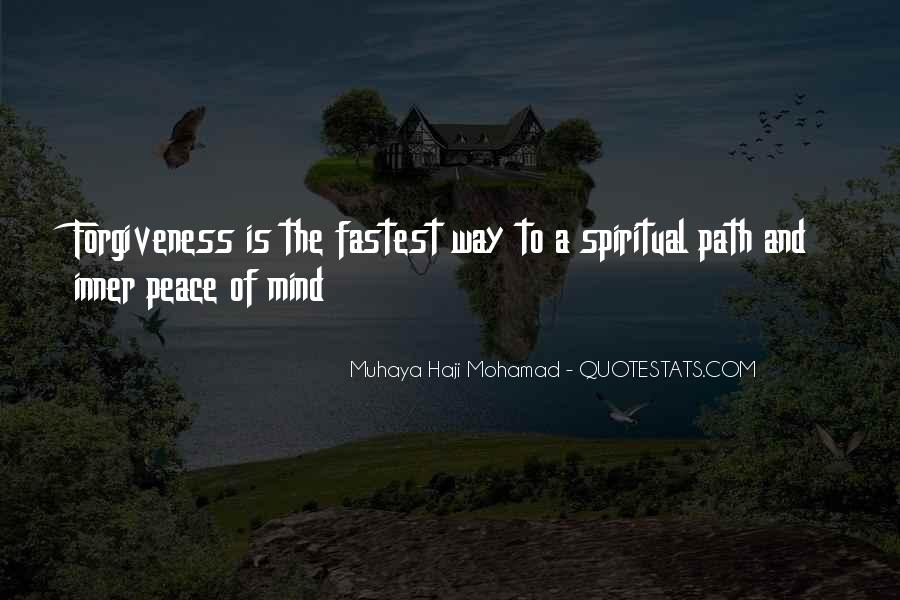 Inner Peace Of Mind Quotes #127286
