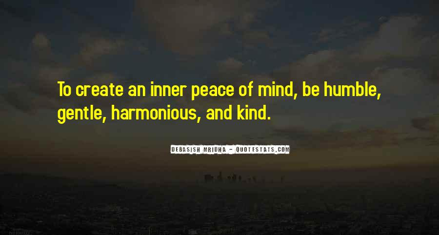 Inner Peace Of Mind Quotes #1643007