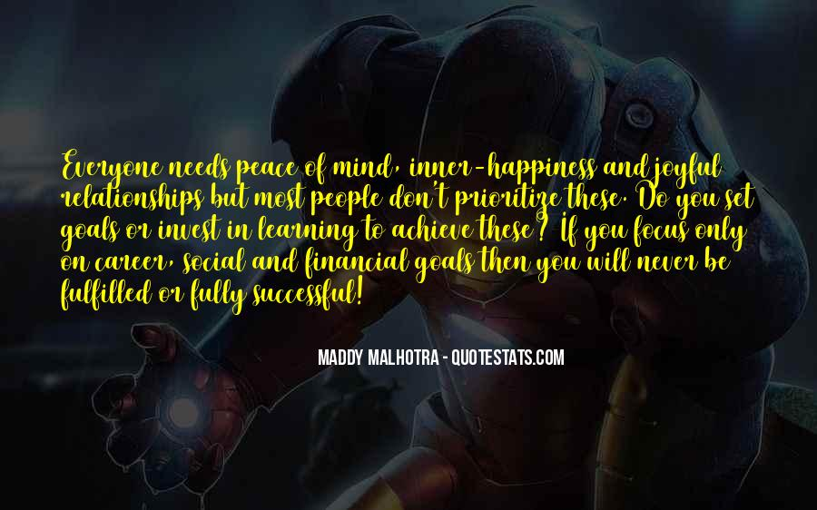 Inner Peace Of Mind Quotes #313429