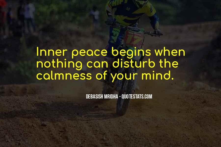 Inner Peace Of Mind Quotes #712761