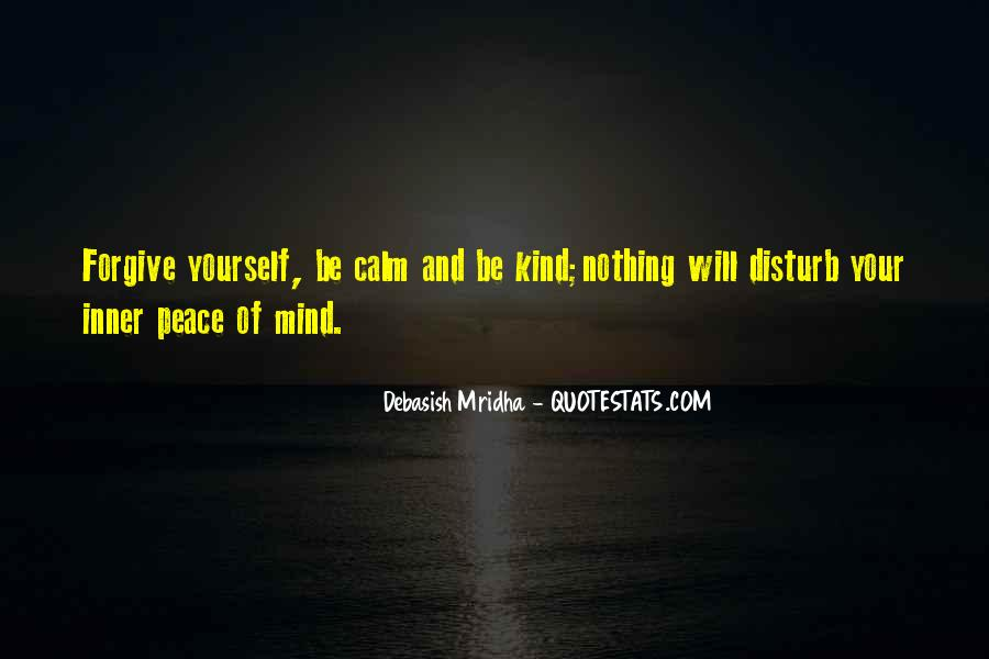 Inner Peace Of Mind Quotes #780617
