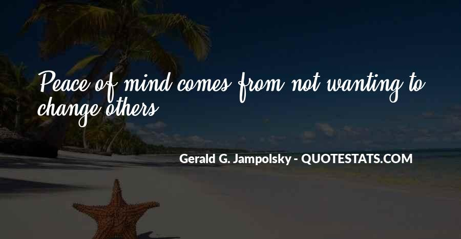Inner Peace Of Mind Quotes #878362