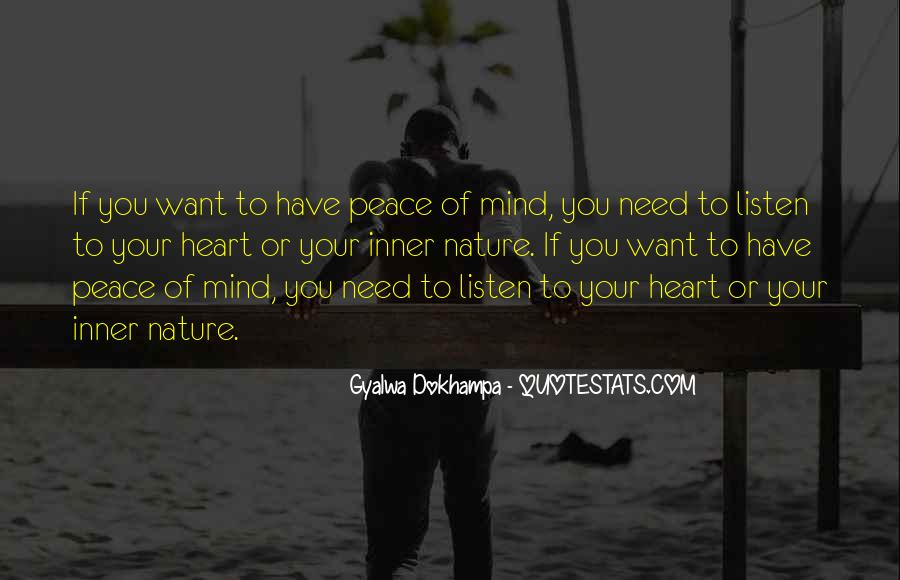Inner Peace Of Mind Quotes #984299