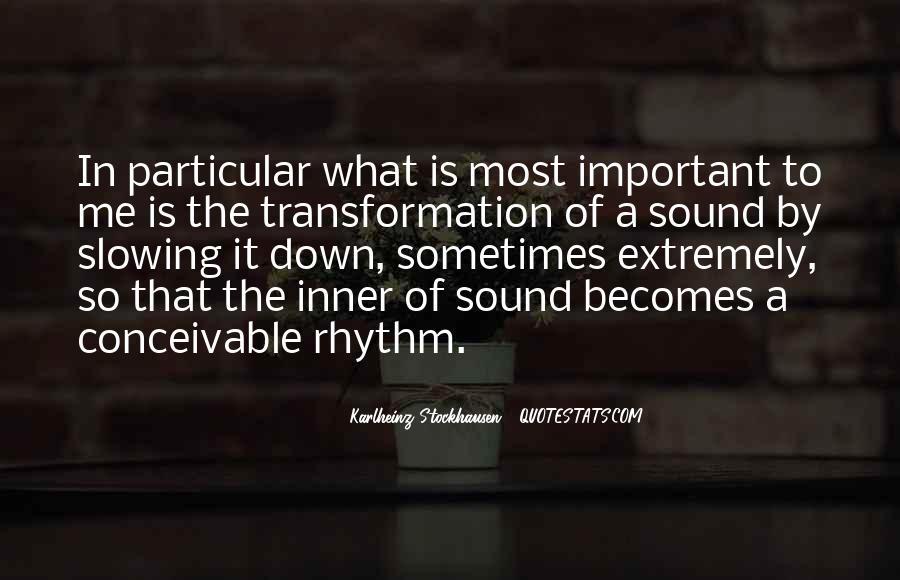 Inner Rhythm Quotes #996114