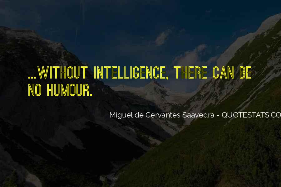 Intelligence Humour Quotes #455176