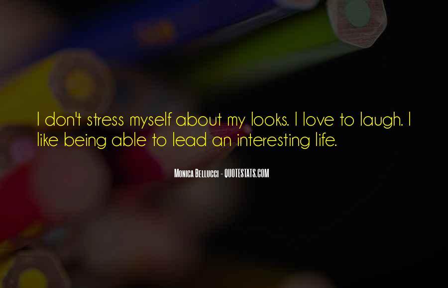 Interesting Love Life Quotes #410022