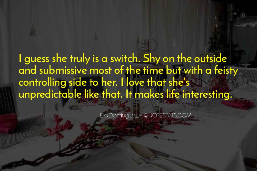 Interesting Love Life Quotes #860230
