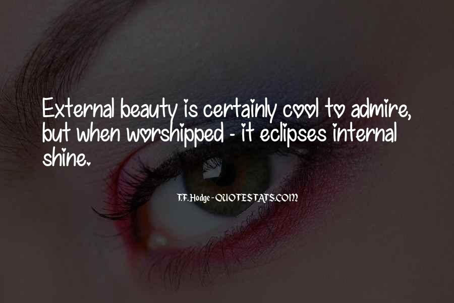 Internal And External Beauty Quotes #861086