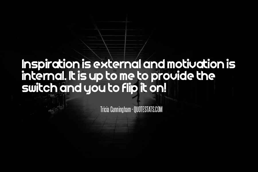 Internal And External Motivation Quotes #235852