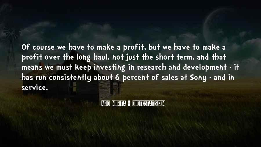 Investing Long Term Quotes #1021707