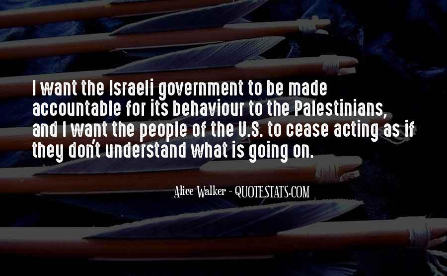 Israeli Government Quotes #225829