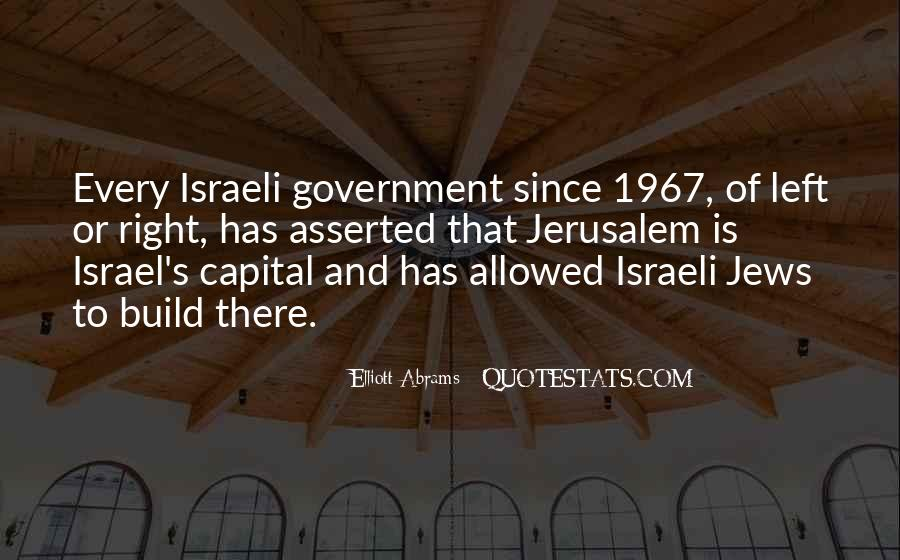 Israeli Government Quotes #598985