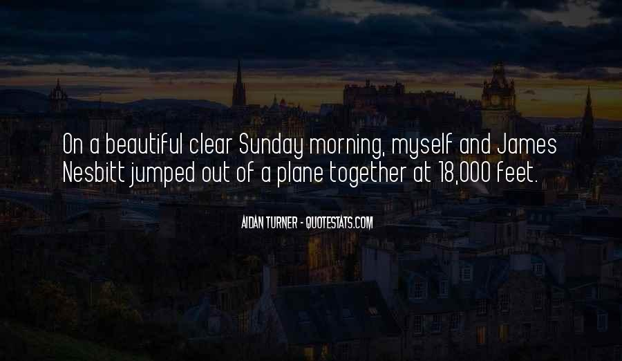 It's A Beautiful Sunday Quotes #1792250