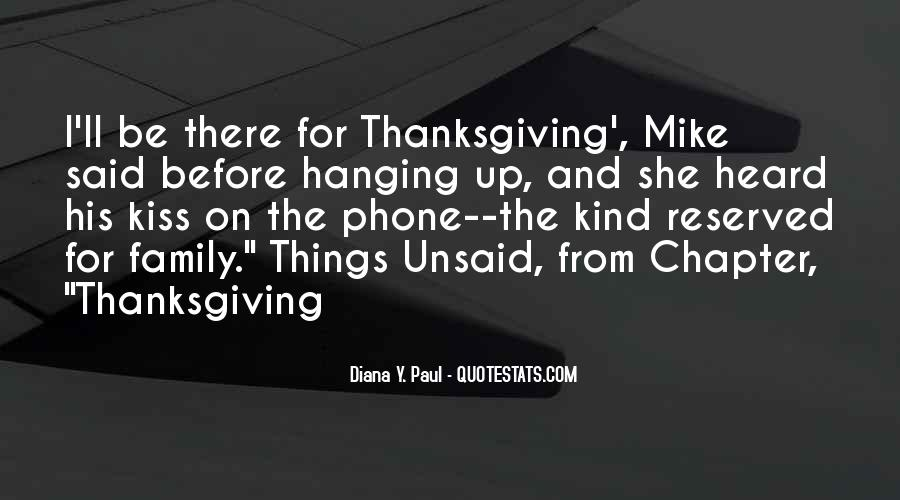 Quotes About Family On Thanksgiving #1544331