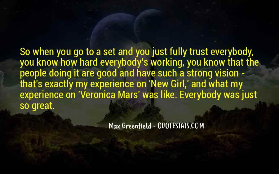 It's Hard Trust Quotes #1117115
