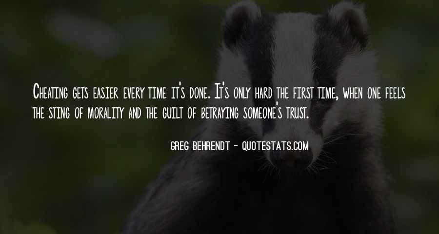 It's Hard Trust Quotes #1726814