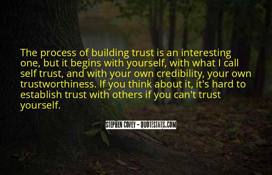 It's Hard Trust Quotes #22827
