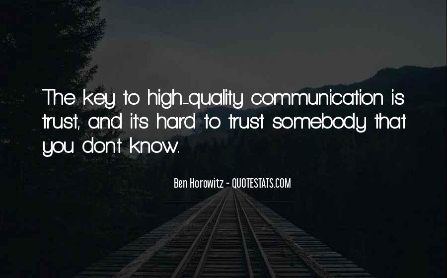 It's Hard Trust Quotes #338224