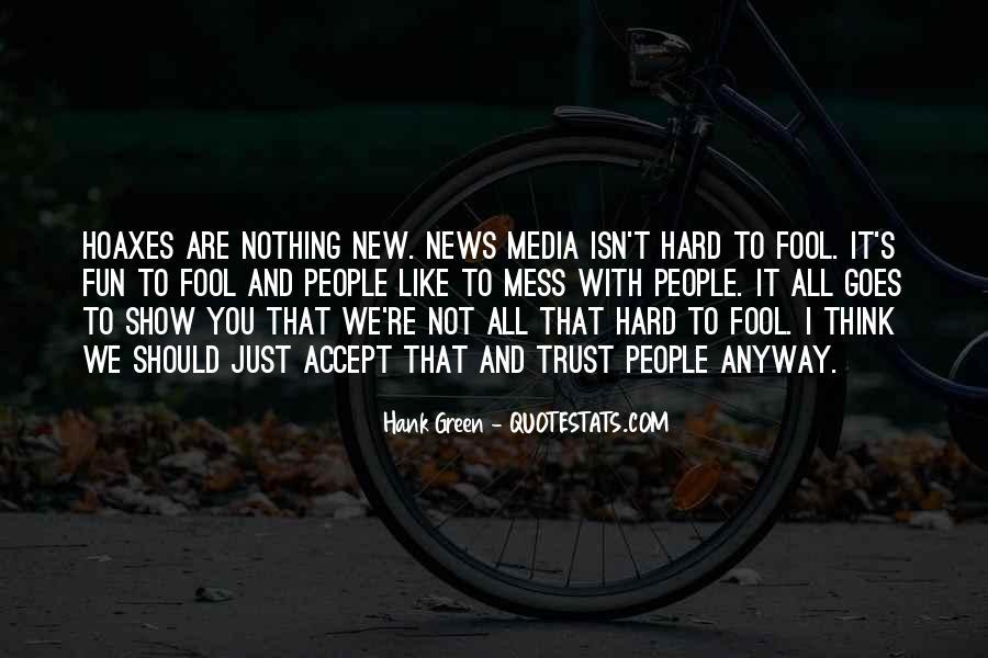 It's Hard Trust Quotes #545790