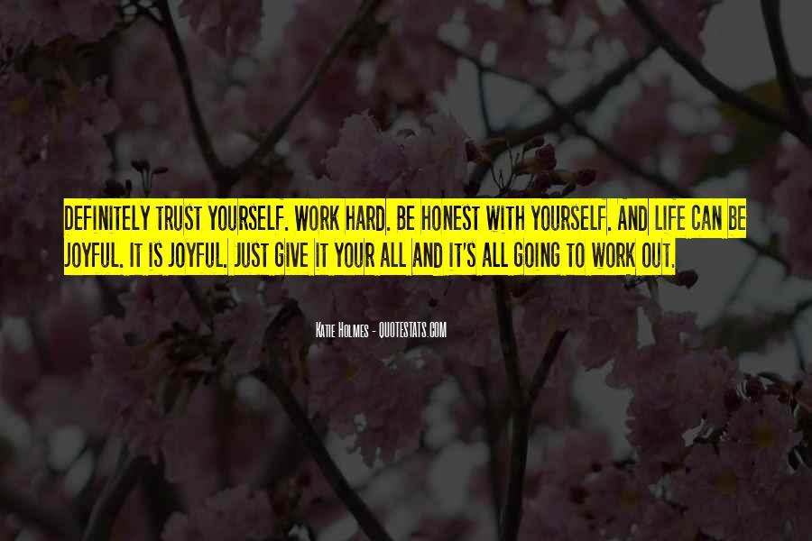 It's Hard Trust Quotes #741165
