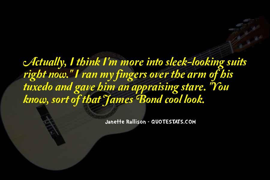 James Bond Tuxedo Quotes #1137366
