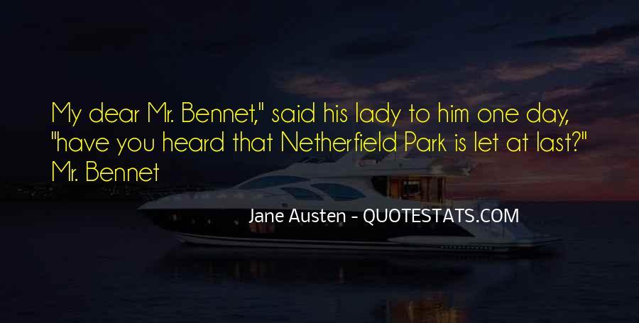 Jane Austen Mr Bennet Quotes #1436369