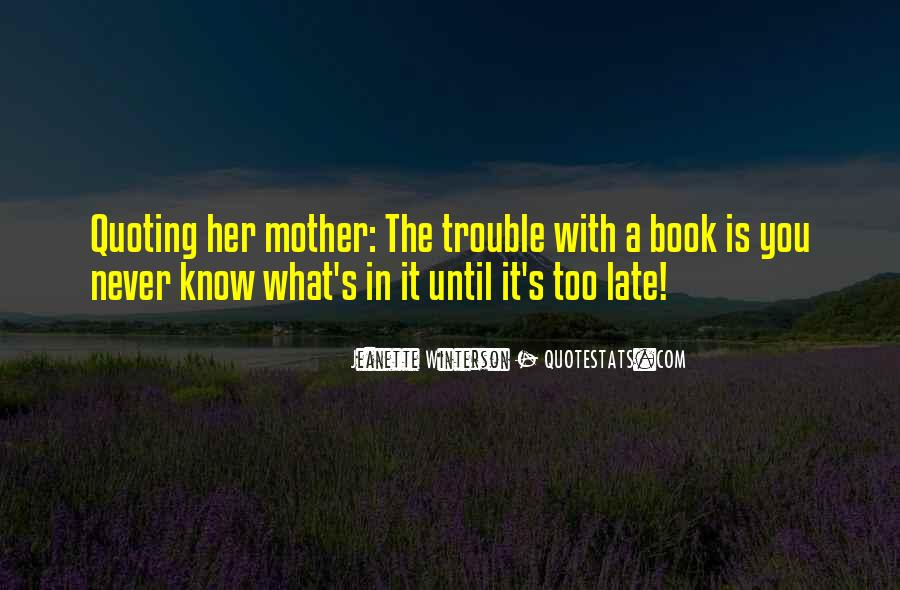 Jeanette's Mother Quotes #78763