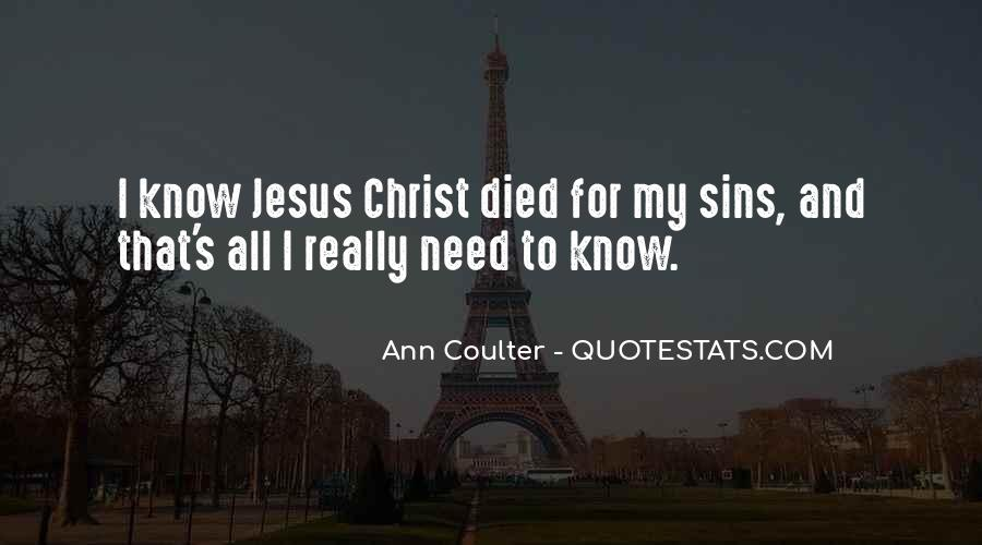 Jesus Christ Died For Us Quotes #1028983