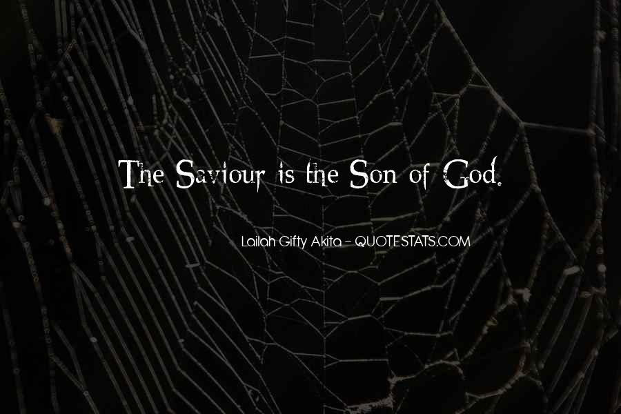 Jesus My Saviour Quotes #1645941